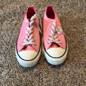 Pink converse, size 10
